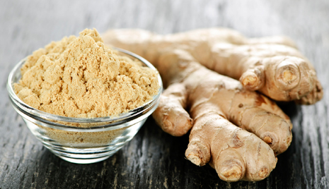 Treat stiff muscles with ginger