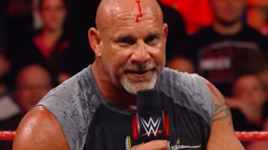 Goldberg Busts His Head Open Before 'Monday Night Raw,' Goes Into Ring Anyway