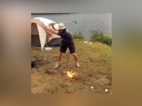 Watch: Fire Ball Golf Trick Shot Instantaneously Backfires, Sets Golfer Ablaze