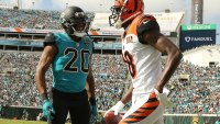 AJ Green and Jalen Ramsey before fight in Bengals-Jaguars game