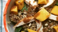 Grilled chicken and quinoa salad