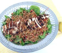Grilled Chicken and Quinoa Power Salad With Honey-citrus Dressing