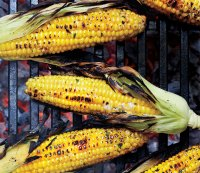 Grilled Corn with Honey-Basil Butter