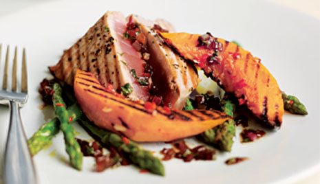 Grilled Tuna with Butternut Squash