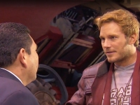 Watch: Jimmy Kimmel's Sidekick, Guillermo, Gets Acting Lesson From Chris Pratt On 'Guardians 2' Set