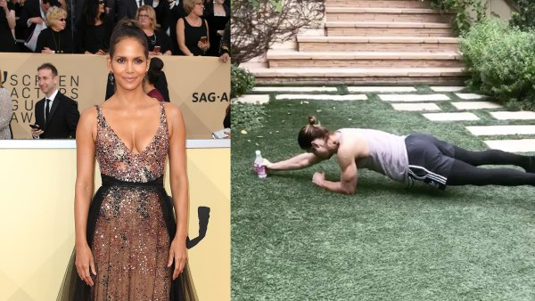 Halle Berry and Trainer Peter Lee Thomas