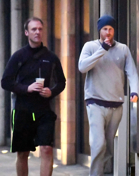Prince Harry Works on His Wedding Body