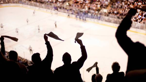 Hockey Fans in Arena