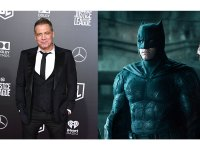 Holt McCallany and Batman Ben Affleck in Justice League