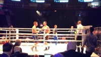 Watch: Boxer gets KO'd by ice bucket