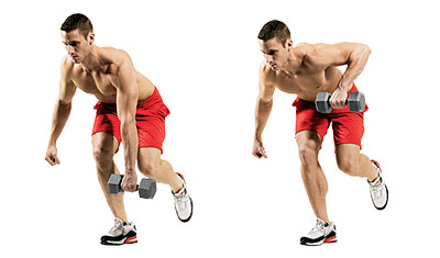 Hold A Dumbbell In One Hand And Stand On The Opposite Leg Keeping Your Lower Back Its Natural Arch Bend Forward At Hips Until