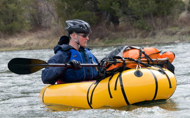A Packraft Is An Inflatable One Man Vessel That Can Run River Rapids Like Kayak But Packs Down Tightly Into Tiny Block Weighing As Little Five