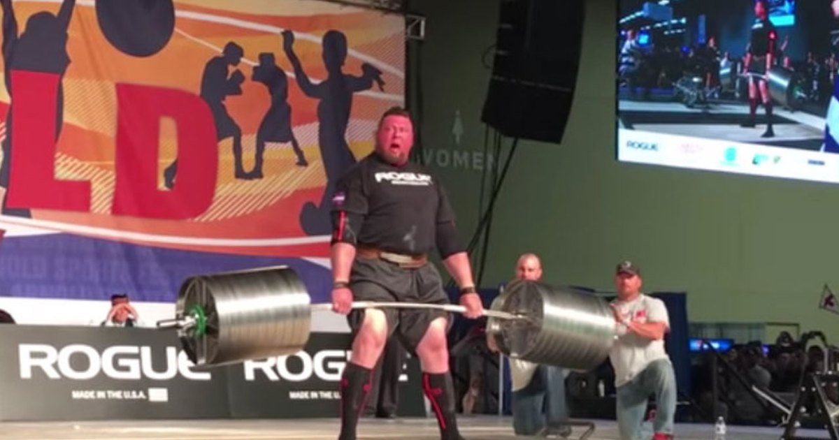 Watch: Strongman Jerry Pritchett sets world record in