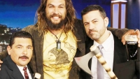 Watch: Jason Momoa Throws Axes on 'Jimmy Kimmel Live!', Manages Not to Kill Anybody