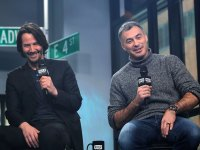 Keanu Reeves and Chad Stahleski appear to promote 'John Wick: Chapter 2' during the BUILD Series at Build Studio on February 2, 2017 in New York City.
