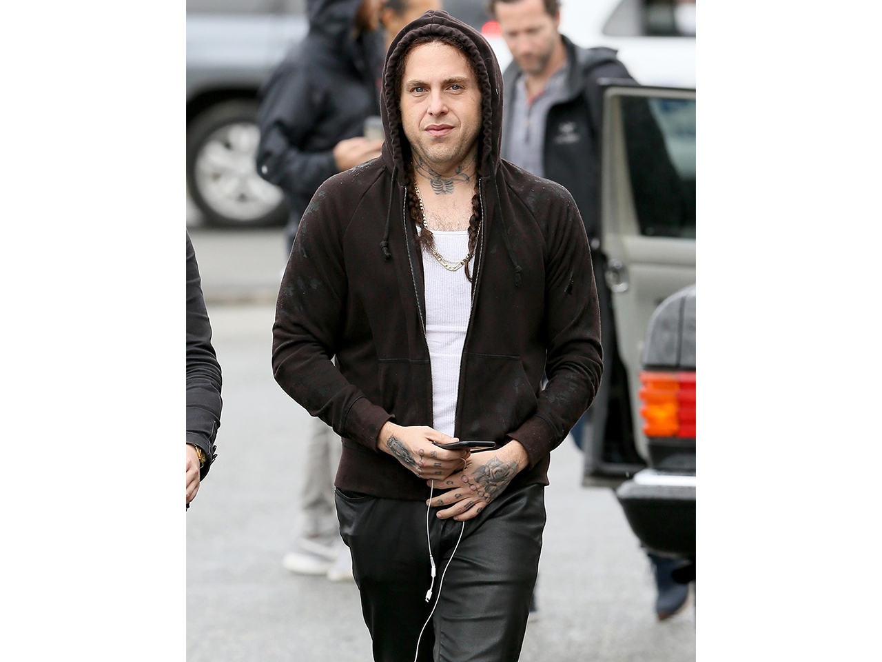01ddf087e Photos: Jonah Hill Looks Unrecognizable With Braided Hair and ...
