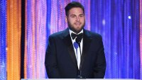 Jonah Hill looking skinny presents at Screen Actors Guild awards