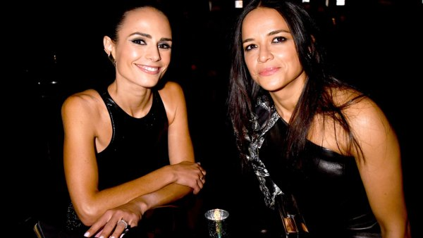 Actors Jordana Brewster (L) and Michelle Rodriguez attend the 2017 MTV Movie And TV Awards at The Shrine Auditorium on May 7, 2017 in Los Angeles, California