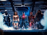 Batman, The Flash, Aquaman, Cyborg and Wonder Woman in Justice League