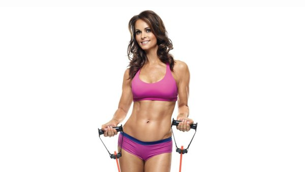 Karen McDougal on cover of 'Muscle & Fitness Hers'