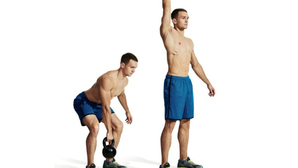 Interval training with kettle bells