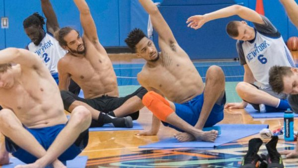 The NY Knicks Are Doing Yoga