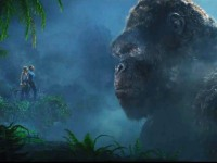 Brie Larson and Tom Hiddleston with the mighty King Kong in 'Kong: Skull Island.'