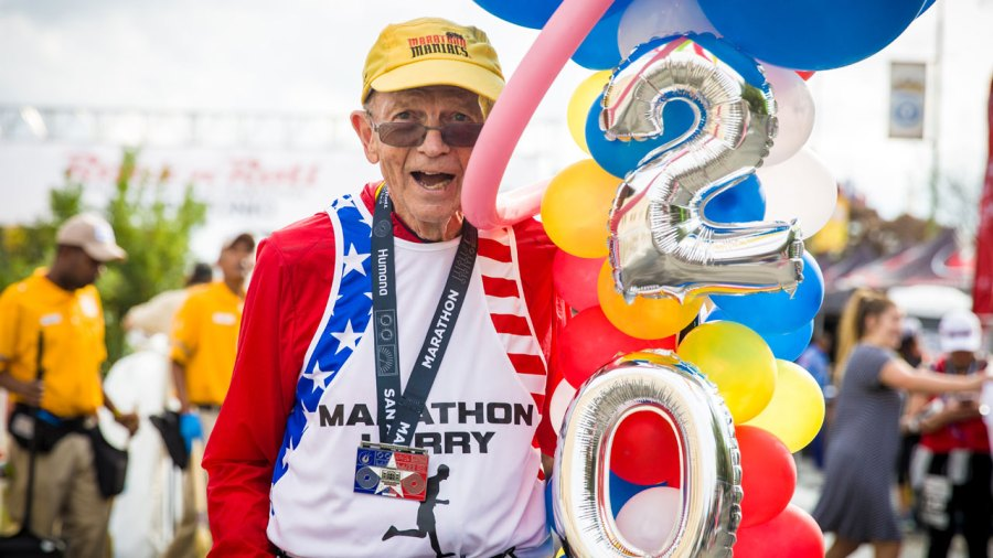 Larry Macon's 2,000th Marathon at the Humana Rock 'n' Roll Marathon in San Antonio