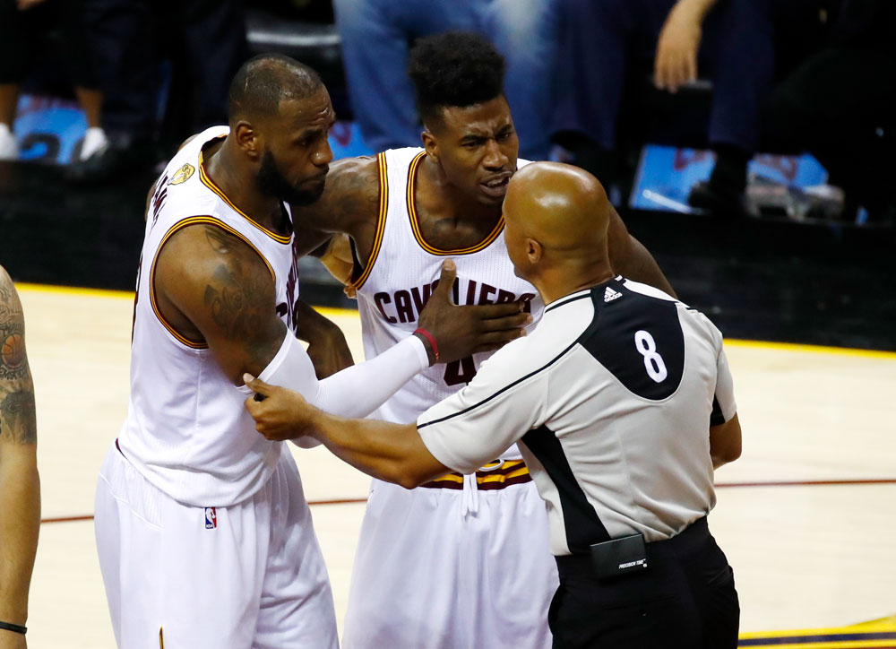 NBA referee Marc Davis and LeBron James