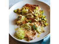 Lemon-Roasted Chicken With Avocado And Warm Artichoke Hearts