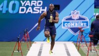 Leonard Fournette runs the 40-yard-dash at the 2017 NFL combine