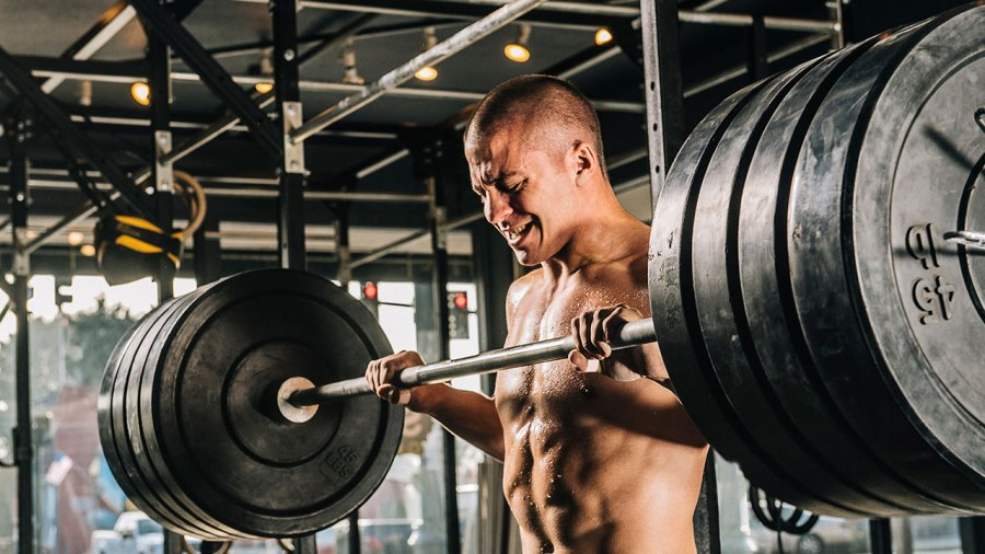 Weightlifter Lifting to Failure