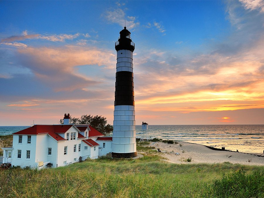 Big Sable Point Lighthouse In Michigan