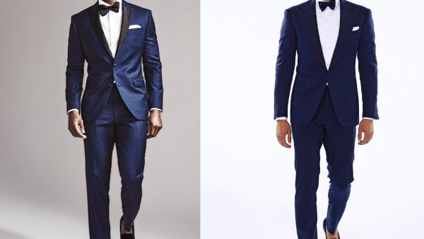 How to pull off a blue tuxedo—and save thousands