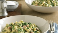 Skillet Mac & Cheese With Ham & Spinach