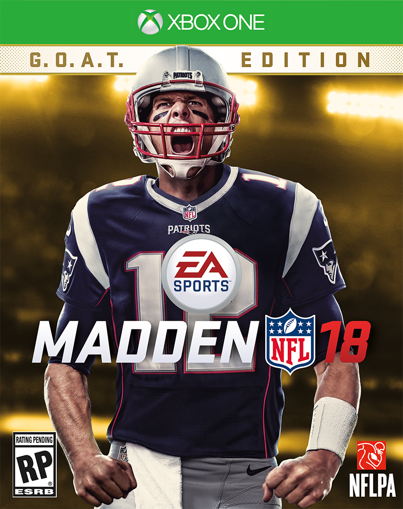 Madden NFL 18 Cover Tom Btrady