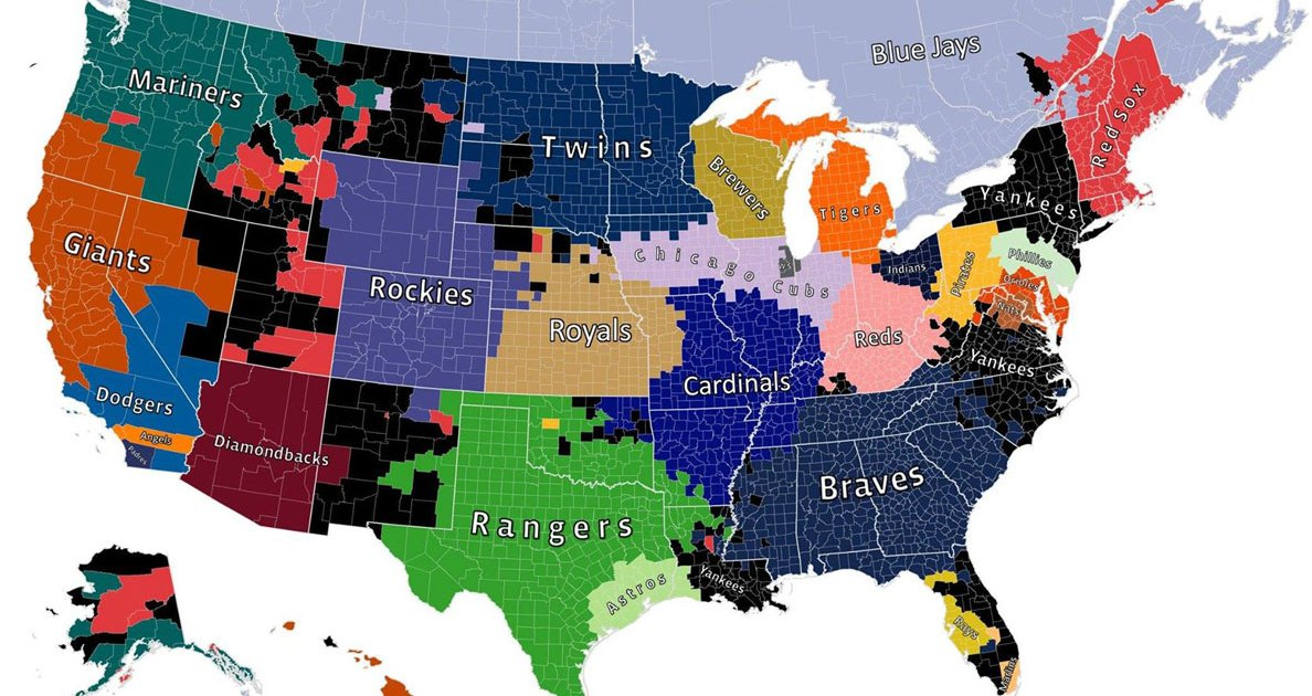 Mlb Fan Map Facebook Map Shows MLB Fan Trends Across the USA and Canada