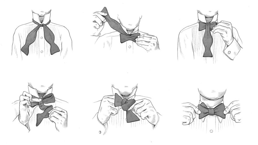 How to Tie a Bow Tie in Six Steps