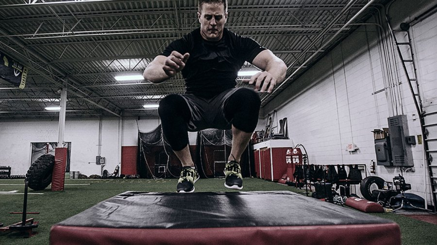 J.J. Watt Announces Reebok Partnership With 5'1″ Box Jump
