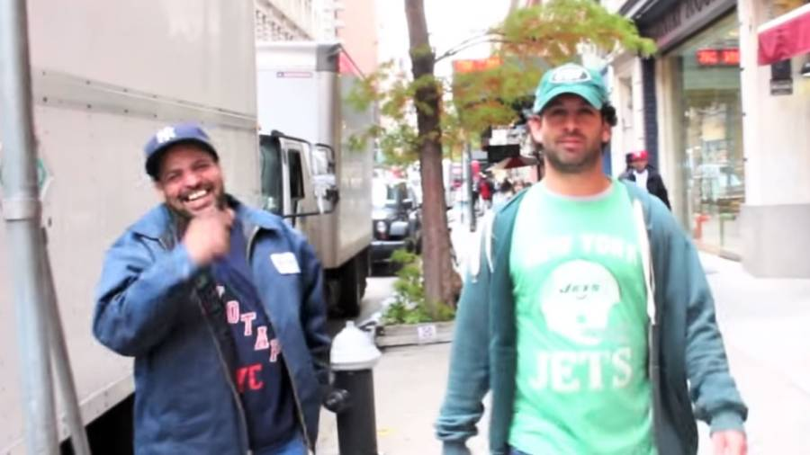 NY Jets Fan Gets Taunted Walking the Streets of NYC