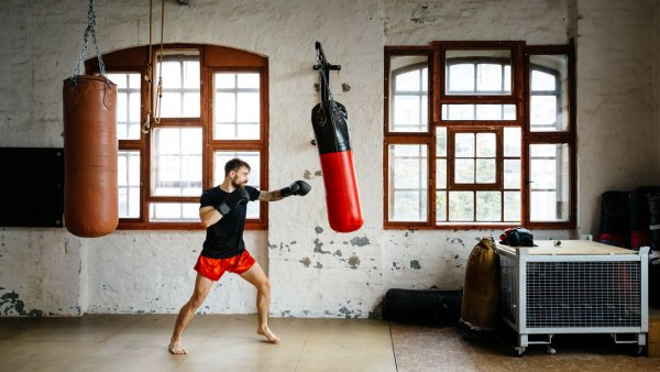Workouts for Boxers: Fit man boxing