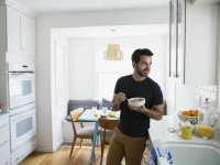 Man Eating Breakfast
