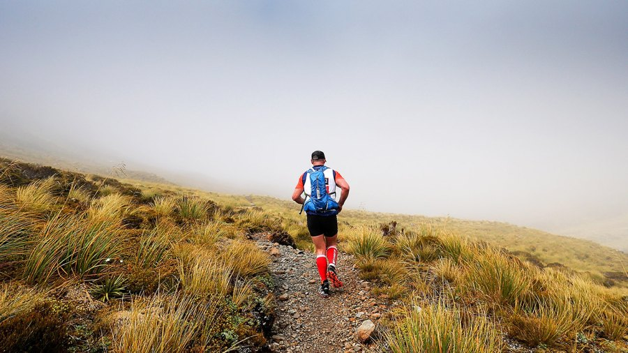 An Athlete Competes In The Mountain Run