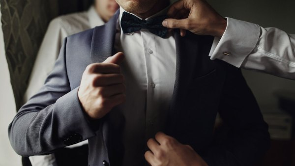Man getting fitted in suit