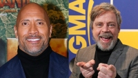 Dwayne Johnson and Mark Hamill