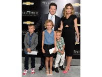 Mark Wahlberg With His Family at the 'Transformers: Age of Extinction' Premiere