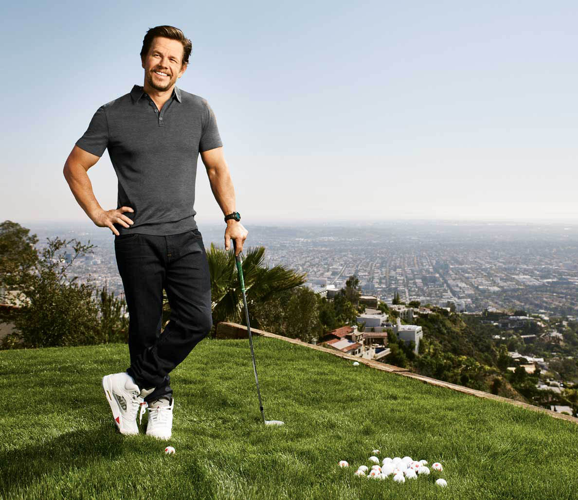 Mark Wahlberg in the May 2016 issue of Men's Fitness. Photo by Jeff Lipsky