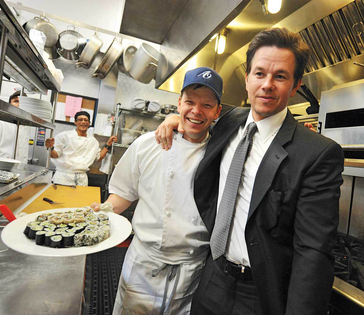 Mark Wahlberg and his brother Paul; photo by Brian Babineau