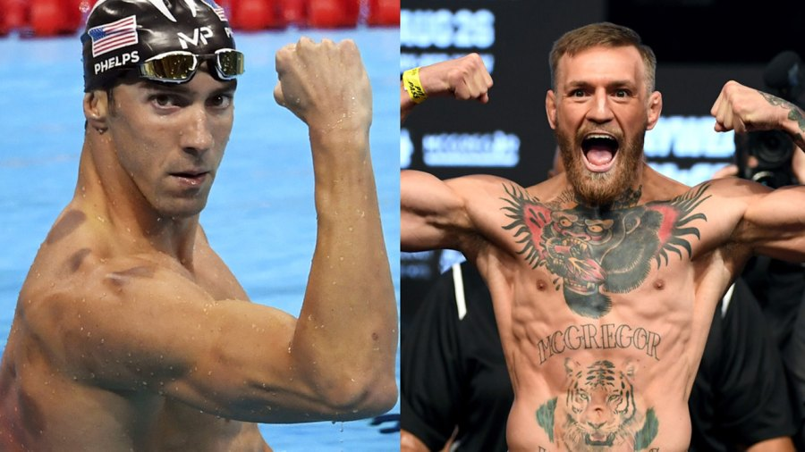 Micheal Phelps Fuels Conor McGregor Race Speculation With Epic Meme