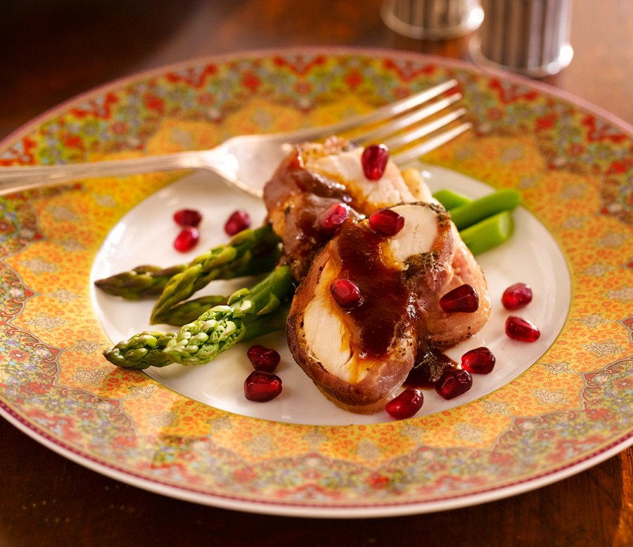 Mesquite smoked turkey breast with POM rum barbecue sauce